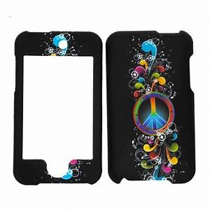 Amazon.com: Rainbow Wave Peace Sign Rubberized Snap on ...