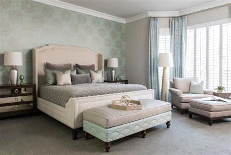Bedroom Decorating Ideas Seafoam Green by Master Bedroom Features Seafoam Green Accent Wall Plush