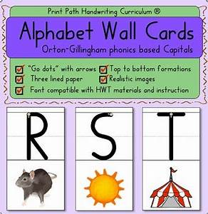 alphabet wall cards capitals orton gillingham phonics With orton gillingham letter cards