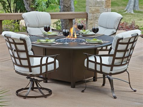 Patio furniture cushions and outdoor pillows are double duty furniture accessories that soften your metal and iron patio dining sets while adding a splash of color and style. Patio Furniture — Jerry's For All Seasons