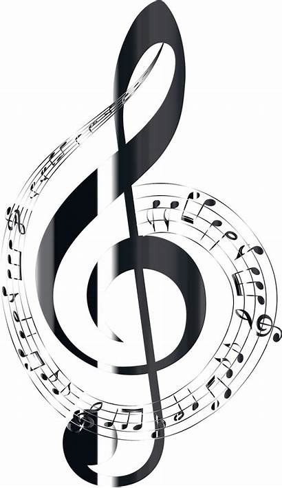 Notes Musical Background Typography Onyx Polished Clipart