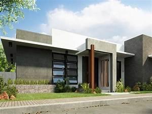 1 Storey Simple Modern Home Design - 4 Home Ideas