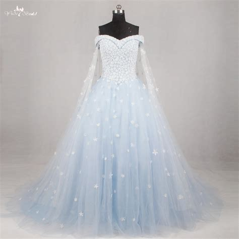 rsw light blue wedding gown wedding dress