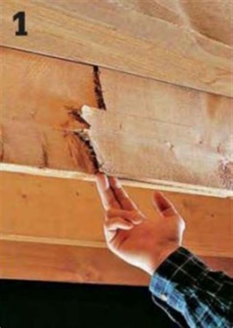 Sagging Floor Joist by How To Repair A Cracked Or Sagging Joist Home