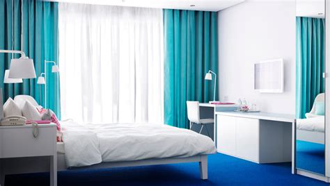 a modern and stylish hotel room