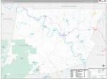 Wyoming County, PA Wall Map Premium Style by MarketMAPS