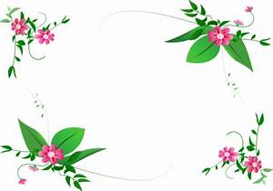 Green Flower-border Design Png