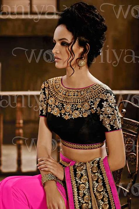 ethnic wear blouse designs 2017 for indian silk