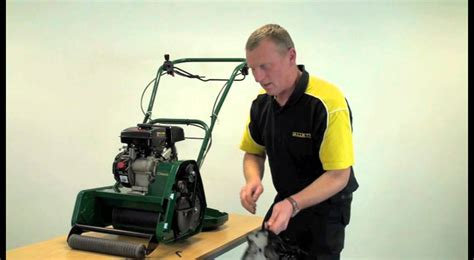 how to replace the l in a tv allett classic 14l and 17l cylinder mower how to change