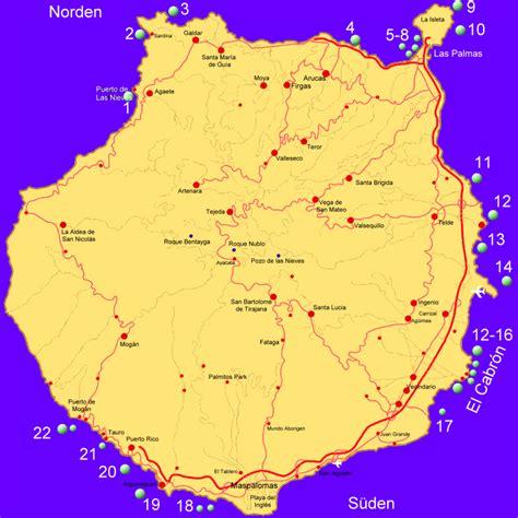 Karte Kanaren übersicht