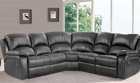 newark leather reclining corner sofa black high quality