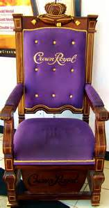the crown royal throne at the u s duty free store in