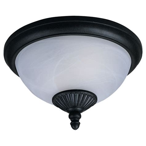 outdoor ceiling light sea gull lighting 2 light forged iron outdoor ceiling