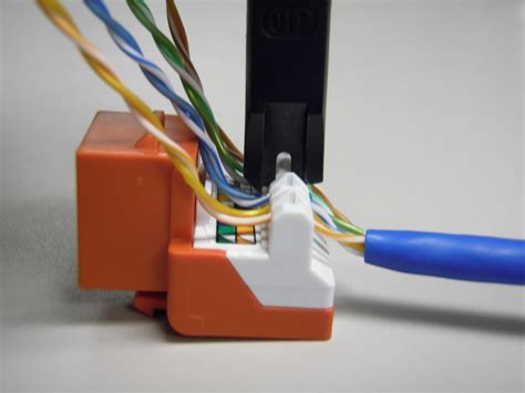 Cat5 Punch Wiring Diagram by The Trench How To Punch Cat5e Cat6 Keystone Jacks