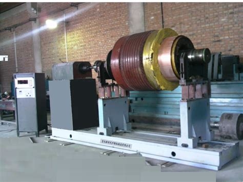 Electric Motor Balancing by 20t Dynamic Balancing Machine Shanghai Pinnxun Electric