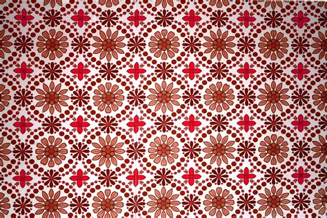 Brown And Red Flower Wallpaper Texture Picture Free