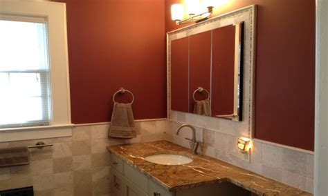 Colorful bathroom vanity, rust color bathroom rust color