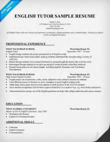 describe tutoring on resume resume and writing tips