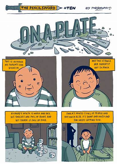 Comic Privilege Strip Simple Plate Explanation Perfectly