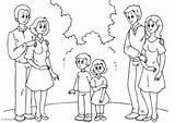 Parents Coloring Kleurplaat Coloriage Eltern Colorear Para Padres Dibujo Ouders Pareja Malvorlage Avec Con Met Nieuwe Partners Neuen Partnern Mit sketch template
