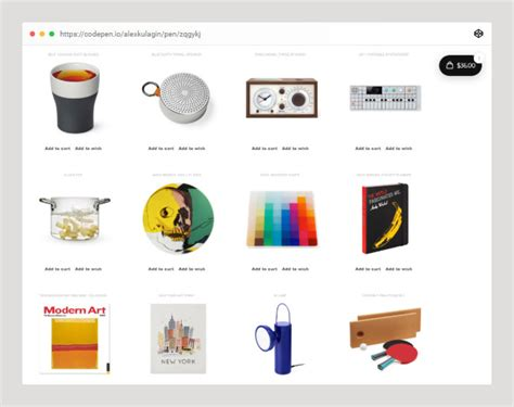 codepen demos  ecommerce website bashooka