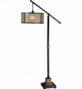 uttermost 28584 1 sitka floor lamp lampscom With sitka silver floor lamp