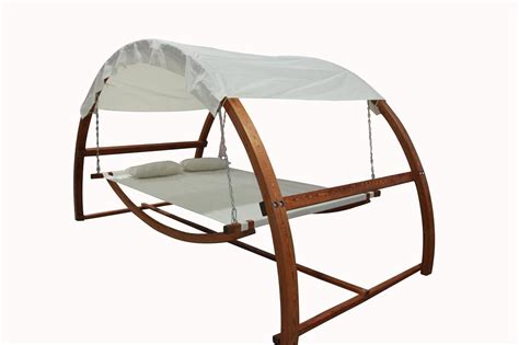 Hammock And Frame by Hammock With Waterproof Canopy Roof Hardwood Larch
