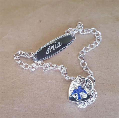 bracelet bluebird id  child  sterling silver