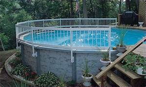 Landscaping Around Above Ground Pools Bee Home Plan