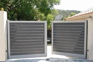 Portail Coulissant Automatique : portail battant aluminium automatique a gardanne a b d ~ Premium-room.com Idées de Décoration