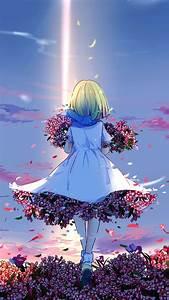 Anime, Girl, Spring, Flowers, 4k, Ultra, Hd, Mobile, Wallpaper