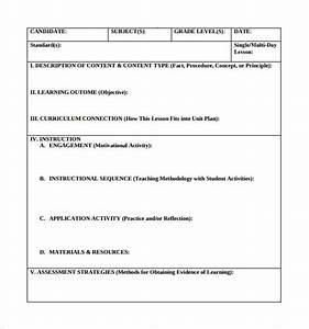 18 teacher lesson plan templates free sample example With lesson plan template for kindergarten teacher