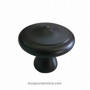 Bouton Armoire Noir Satine 12