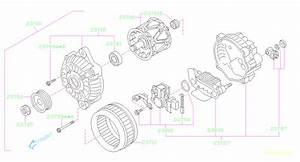 2008 Subaru Forester Alternator Assembly  System  Body