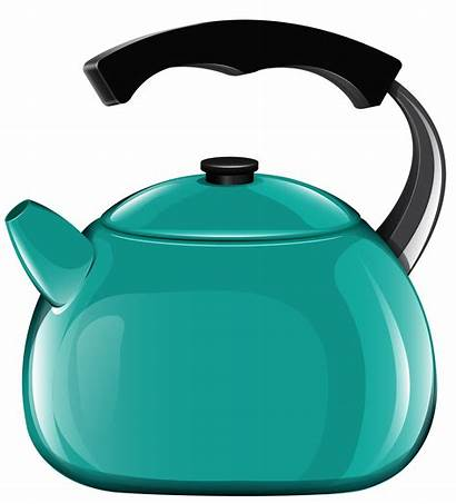 Kettle Clipart Clip Transparent Kitchen Teal Crayons