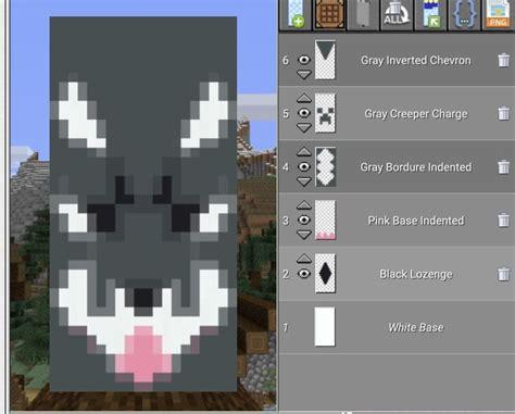 cute wolf minecraft banner designs minecraft blueprints minecraft projects