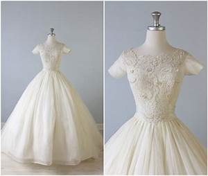 reserved vintage 1950s wedding dress 50s bridal gown With vintage 50s wedding dresses