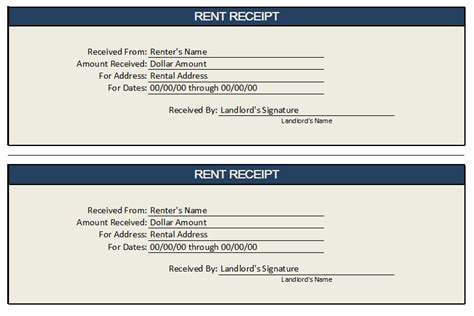 7 Free Rent Receipt Templates in MS Word Templates