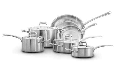 usa  tri ply stainless steel cookware set  piece cutlery