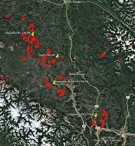 128 Active Wildfires In British Columbia As Firefighters