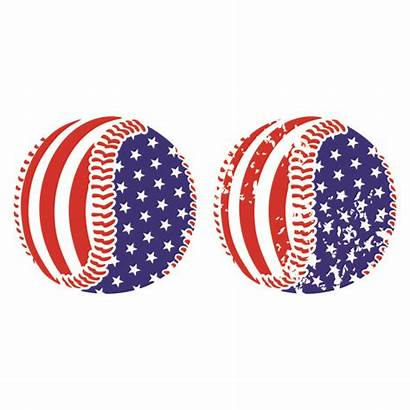 Baseball Cuttable Flag Svg Usa Designs Clipart