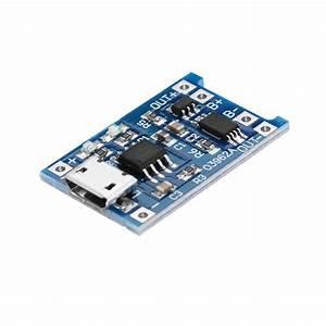 2pcs Tp4056 Micro Usb 5v 1a Lithium Battery Charging