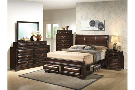 bedroom sets south coast cappuccino king size storage
