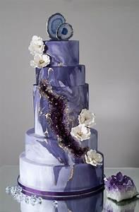 Purple Geode/agate Wedding Cake - CakeCentral com