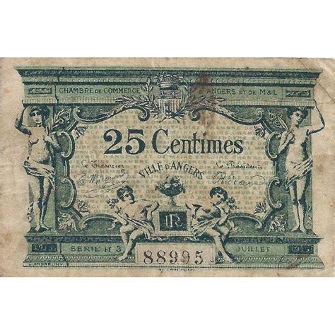 chambre des commerces angers 49 angers chambre de commerce 25 centimes 1915
