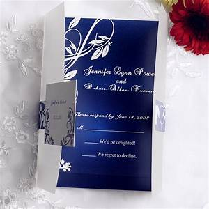 royal blue pocket wedding invitations with free rsvp cards With wedding invitation designs color blue