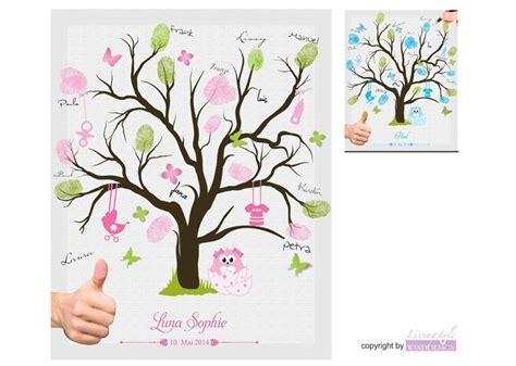 fingerabdruckbaum taufgaestebuch taufgeschenk von