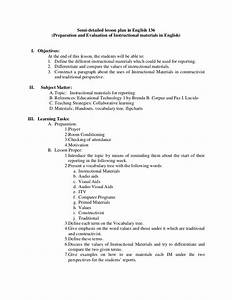 high school english 4 lesson plan With lesson plan template for high school english