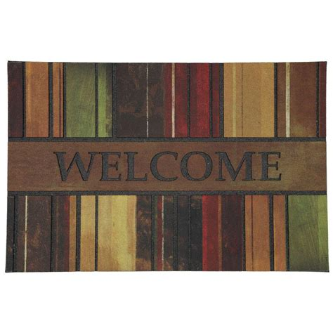 Home Doormat by Mohawk Home 23 In X 35 In Spice Paint Stripe Crumb