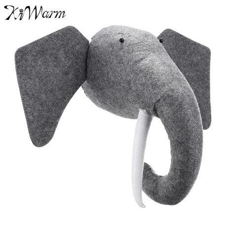 We offer a wide assortment of wall mounted animal head such as sheep wall head, rhinoceros wall head, horse wall head and cow wall head that are carved in brilliant designs and patterns. KiWarm 3D Felt Animal Elephant Head Animals Head Toys Kids Bedroom Wall Hangings Decor Artwork ...